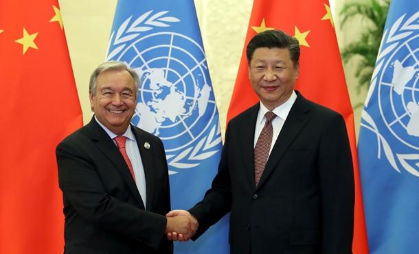 Ши Жиньпин НҮБ-ын Нарийн бичгийн даргыг хүлээн авч уулзав
