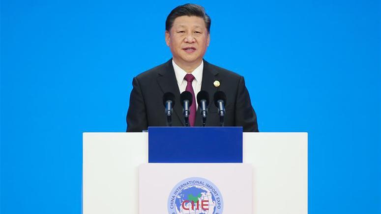 Дарга Ши Жиньпин Хятадын олон улсын импортын анхдугаар экспогийн нээлтэд оролцож гол илтгэл тавив