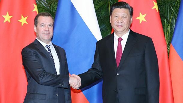 Ши Жиньпин Медведевыг хүлээн авч уулзав
