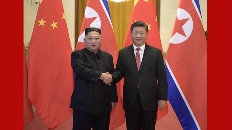 /Архив/ Ши Жиньпин БНАСАУ-ын ХН-ын ТХ-ны дарга Ким Жөн Унтай уулзалт хийв