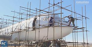 """Хятадын фермер """"Airbus A320"""" онгоцыг бүрэн хэмжээгээр хуулбарлан бүтээжээ"""