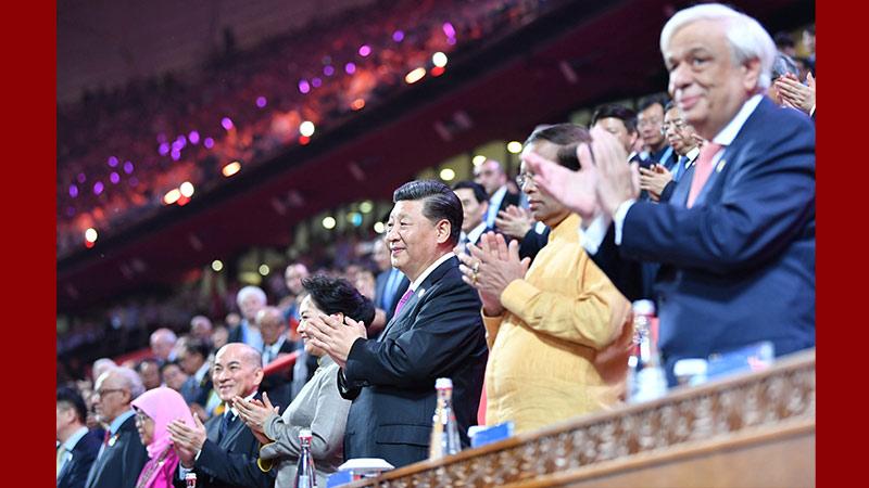 Ши Жиньпин, Пэн Лиюань нар Азийн соёл иргэншлийн наадмын арга хэмжээнд оролцов