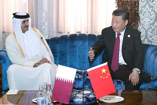 Хятад улсын дарга Ши Жиньпин Катарын Эмир Шэйх Тамимтай уулзав
