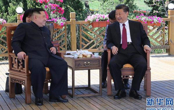 /2018 оны 5-р сарын 8/ Ши Жиньпин БНАСАУ-ын ХН-ын ТХ-ны дарга Ким Жөн Унтай уулзав