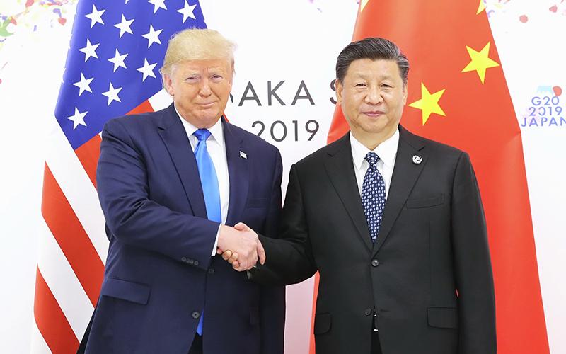 Ши Жиньпин, Дональд Трамп нар уулзжээ