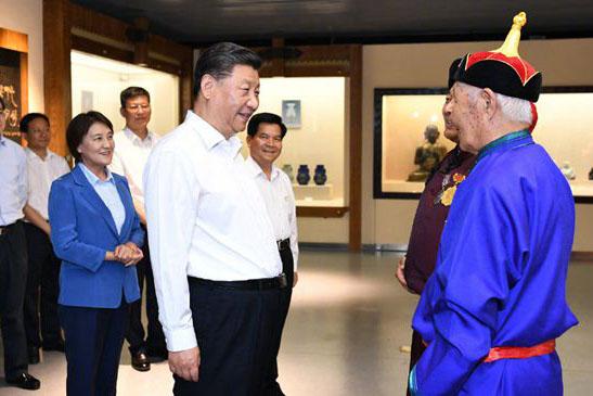 Ши Жиньпин Өвөр Монголд ажил байдалтай танилцав