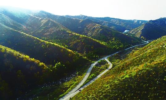 Солонгорон харагдах Далан харын уул