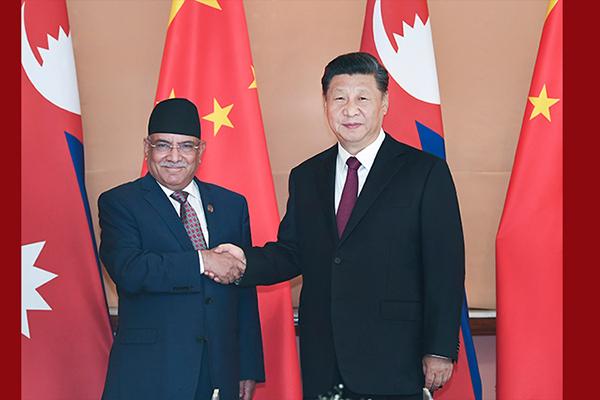 Ши Жиньпин Балбын нэгдсэн коммунист намын дарга Парачандатай уулзав
