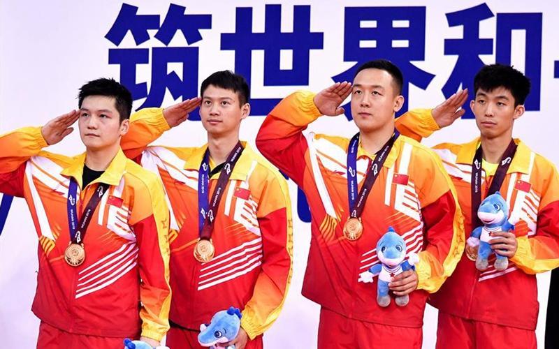 Ширээний теннисийн эрэгтэйчүүдийн багийн тэмцээнийг Хятадын баг өнгөлөв