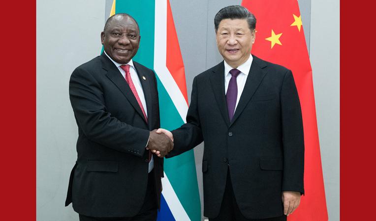 Ши Жиньпин, Өмнөд Африкийн Ерөнхийлөгчтэй уулзав
