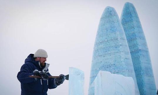 34-р хугацааны Хятадын олон улсын мөсөн баримлын тэмцээн Харбин хотод нээлтээ хийлээ