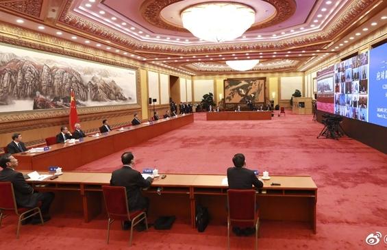 Ши Жиньпин Их Хорийн удирдагчдын COVID-19-ийг аргацах видео уулзалтад оролцов